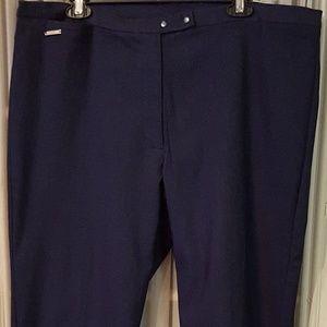 Kim Rogers curvy pants slim leg denim blue